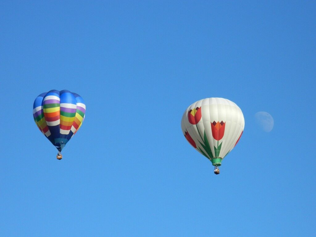 hot air balloons, ride, summer