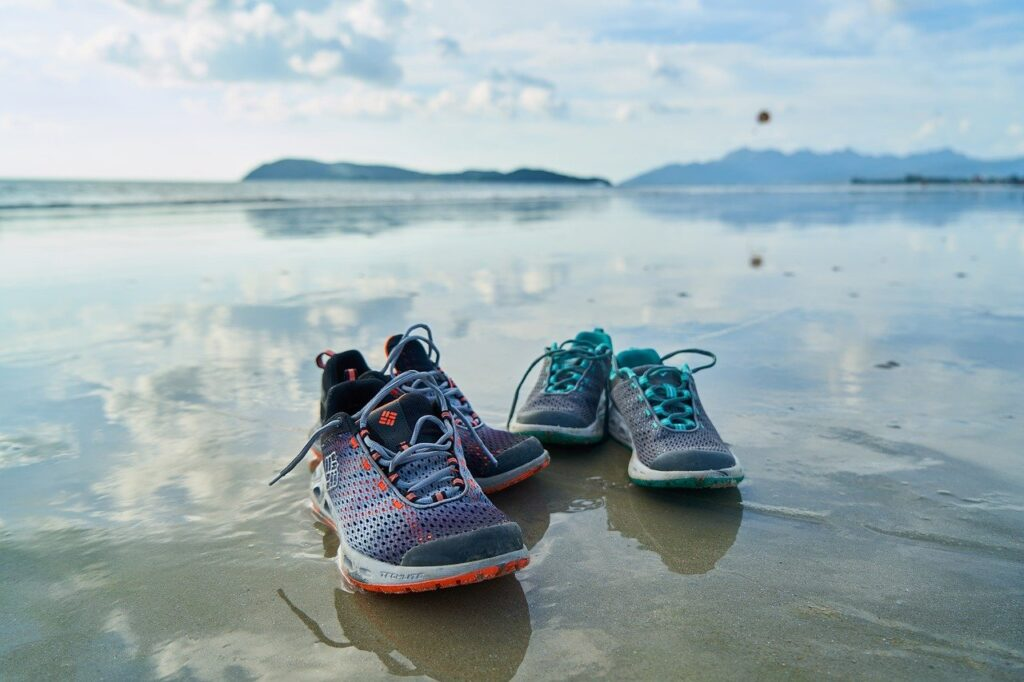 shoes, sports, beach